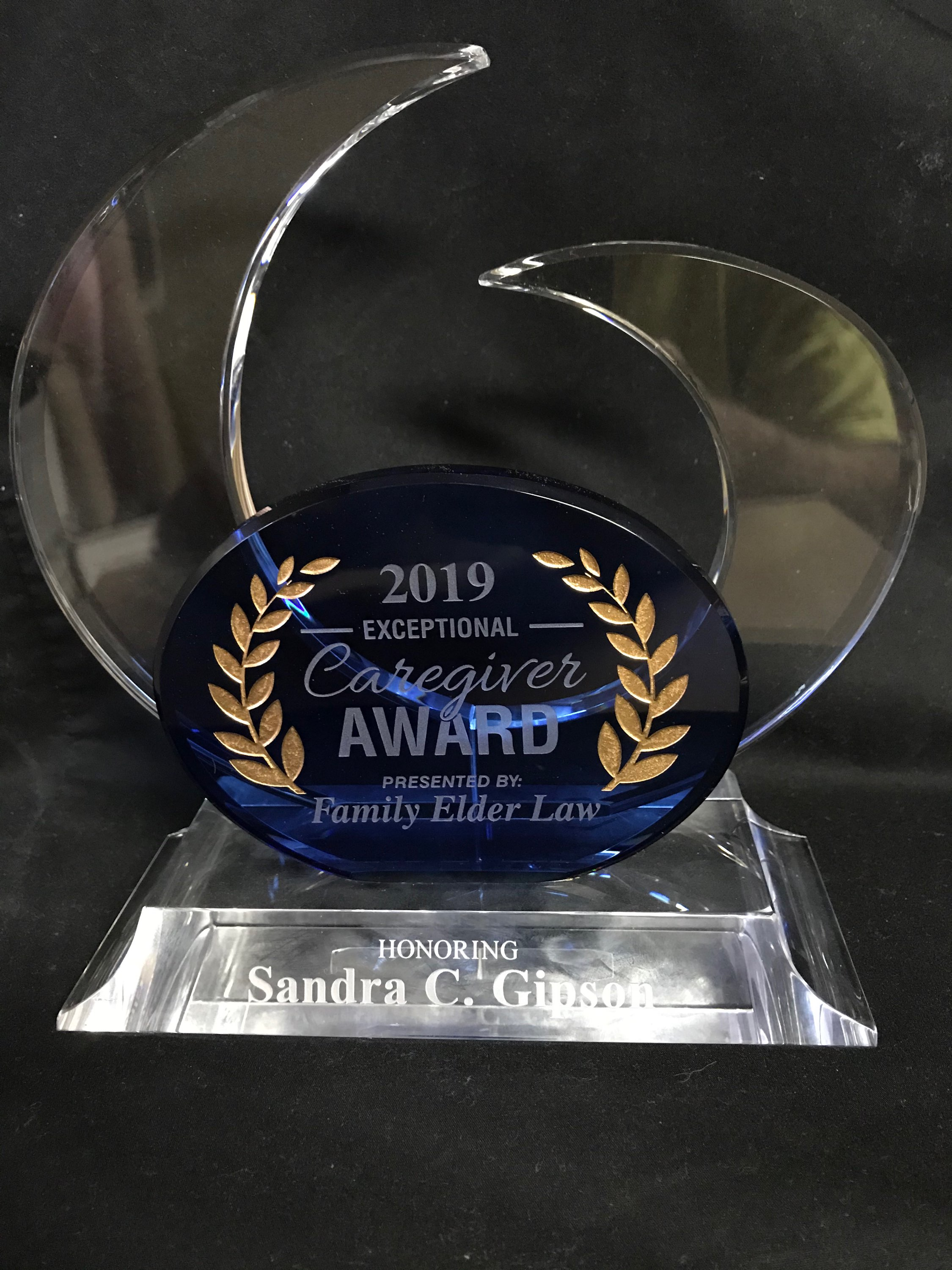 2019 Caregiver Award