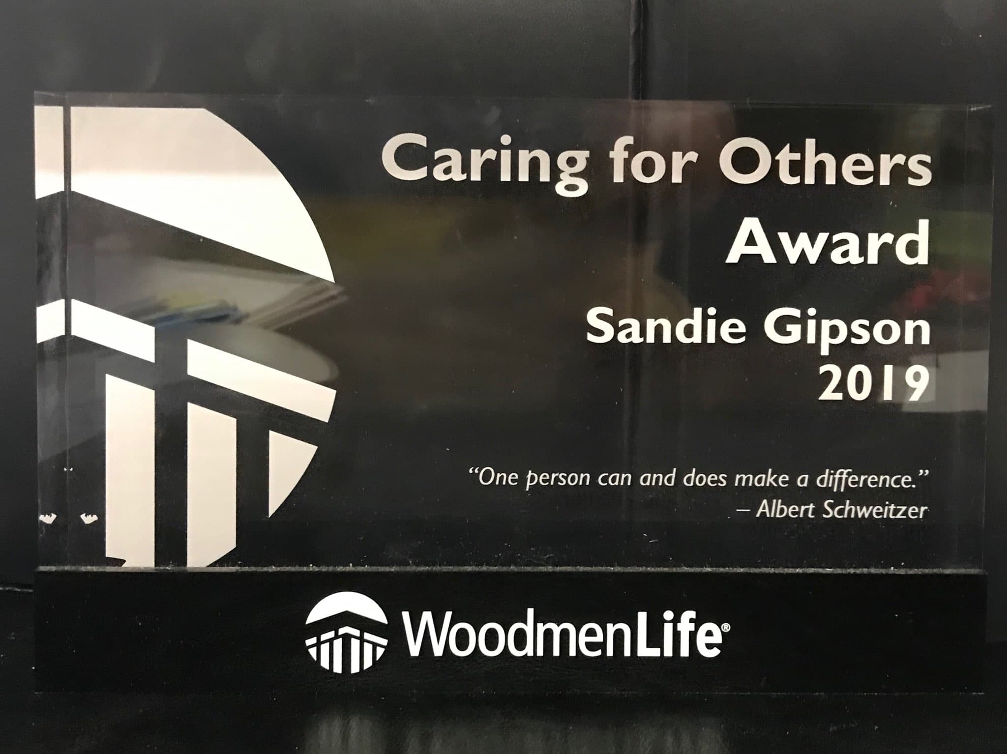 Caring For Others Award